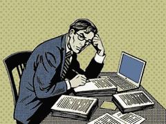 Un rédacteur web au travail