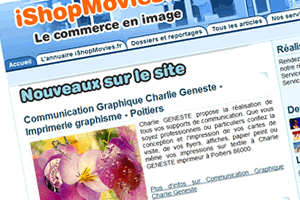 Capture du site iShopMovies