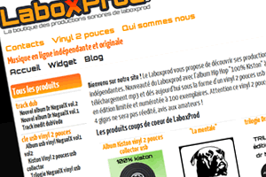 Capture du site LaboxProd