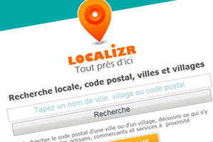Capture du site Localizr